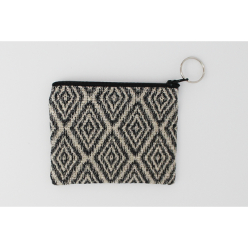 Coin purse in Charcoal diamonds